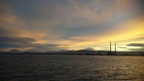 在都伯林,爱尔兰的日落 图库摄影