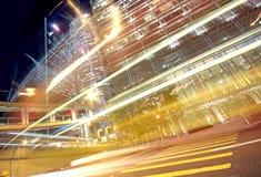 在都市的财务的业务量 免版税库存图片