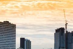 在都市风景的鸟景色和建造场所包括数 免版税库存照片