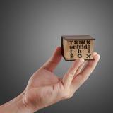 在配件箱之外认为 免版税图库摄影