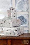 在配件箱的三新年度存在 免版税库存图片