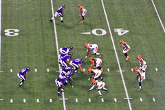 在配件箱, 1运行中返回的NFL橄榄球7 免版税库存图片