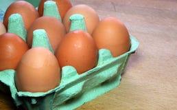 在配件箱的鸡蛋 库存图片
