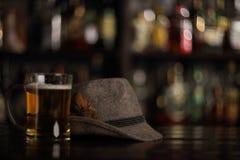 在酒吧的慕尼黑啤酒节啤酒 库存图片