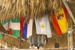 在酒吧的旗子 库存图片
