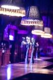 在酒吧的桶装啤酒轻拍 库存照片