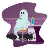在酒吧的鬼魂 免版税库存照片