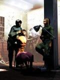 在酷刑下 免版税库存图片