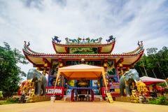 在酸值张,桐艾府,泰国的圣晁Poh酸值张中国寺庙 免版税图库摄影
