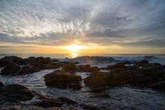 在酸值朗塔, Krabi -泰国的日落 免版税库存照片