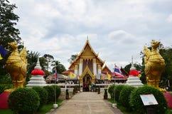 在酸值的Wat Pailom在Nonthaburi泰国kred海岛 库存图片