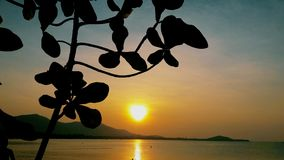 在酸值苏梅岛泰国的日落 库存图片