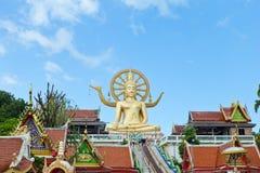 在酸值苏梅岛的大菩萨寺庙,在泰国南部 库存图片