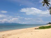 在酸值苏梅岛的泰国海滩 免版税库存图片