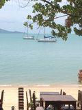 在酸值苏梅岛的泰国海滩 库存照片
