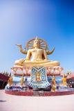 在酸值苏梅岛,泰国的大菩萨寺庙 库存照片