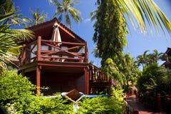 在酸值苏梅岛,泰国的旅馆手段 免版税库存照片