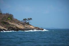 在酸值萨玛德海岛,泰国海洋和海角的阳光  库存图片