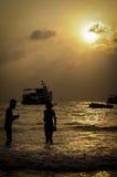在酸值萨玛德海岛,泰国的日出 免版税图库摄影