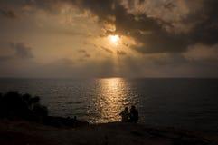 在酸值萨玛德海岛,泰国的日落 库存图片