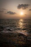在酸值萨玛德海岛,泰国的日落 库存照片