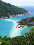 在酸值陶,泰国的海滩。 库存图片