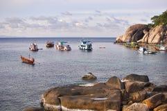 在酸值陶Thaialnd的渔夫的生活 库存照片