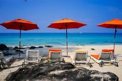 在酸值kood,泰国的海滩 免版税图库摄影