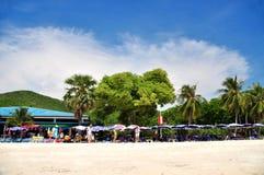 在酸值Larn芭达亚的Tean海滩 免版税库存图片