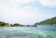 在酸值Nang元海岛的码头 库存照片