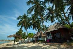 在酸值Phangan泰国的海滩 免版税图库摄影