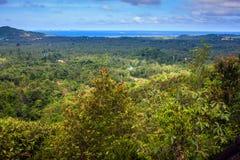 在酸值Phangan海岛上的鸟瞰图 免版税库存照片