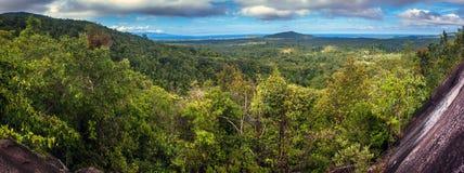 在酸值Phangan海岛上的鸟瞰图 库存照片