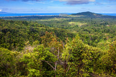 在酸值Phangan海岛上的鸟瞰图 免版税图库摄影