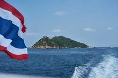 在酸值Phangan附近的海岛 图库摄影