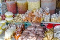 在酸值Phangan,泰国的集市日 库存照片