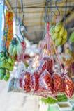 在酸值Phangan,泰国的集市日 库存图片