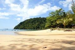在酸值Phayam的美丽的海滩 库存图片