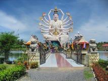 在酸值Samui,泰国, 2007年8月的寺庙 免版税库存照片