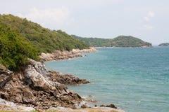 在酸值sri张的海岸 免版税库存照片