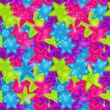 在酸颜色的无缝的花卉模式 免版税图库摄影