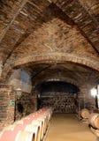 在酿酒厂圣丽塔的葡萄酒桶 免版税库存图片