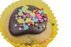 在釉的复活节甜蛋糕 免版税库存照片