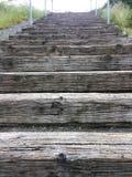 在里士满海滩的楼梯在华盛顿州 免版税库存照片