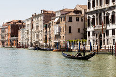 在里奥格兰德,威尼斯的长平底船 免版税库存照片