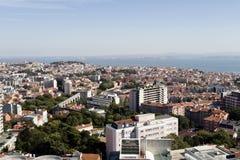 在里斯本的Panomaric视图 库存照片