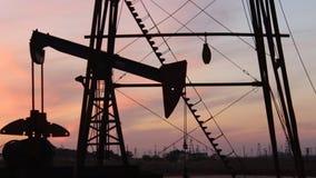 在里海附近的油泵 股票录像