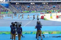 在里约奥林匹克的跳栏板竞争 库存照片