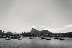 在里约热内卢打开瓜纳巴拉海湾的看法,巴西,与 库存照片