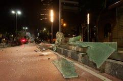 在里约热内卢街道的混乱  库存照片